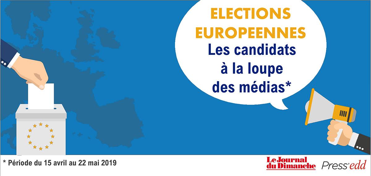Visibilité des candidats aux Élections Européennes dans la presse française : Le Journal du Dimanche et Press'edd  en campagne