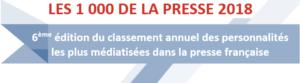 Les 1000 de la Presse Française 2018 (6ème édition)